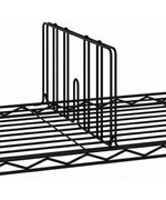 18 Inch Intermetro Black Shelf Divider