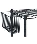 Intermetro Deep Shelf Basket - Black