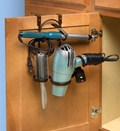 Blow Dryer and Flat Iron Holder - Bronze
