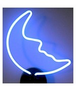 Blue Moon Neon Sculpture - by Neonetics