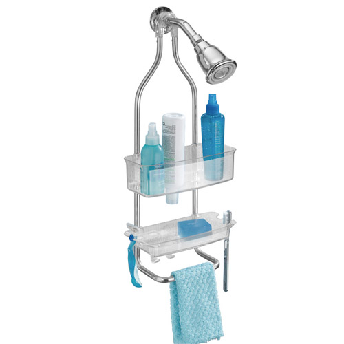 Zia Stainless And Plastic Shower Caddy Clear In Shower