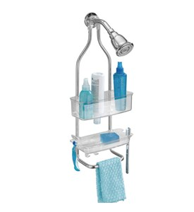 Zia Stainless and Plastic Shower Caddy - Clear Image