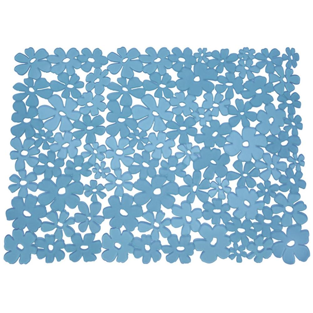 Blumz Flower Sink Mat Blue In Sink Mats