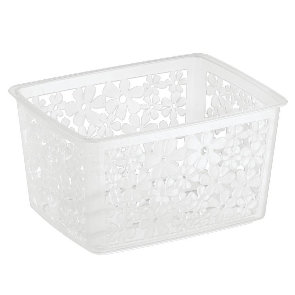 Blumz Stackable Storage Basket Clear In Plastic Baskets