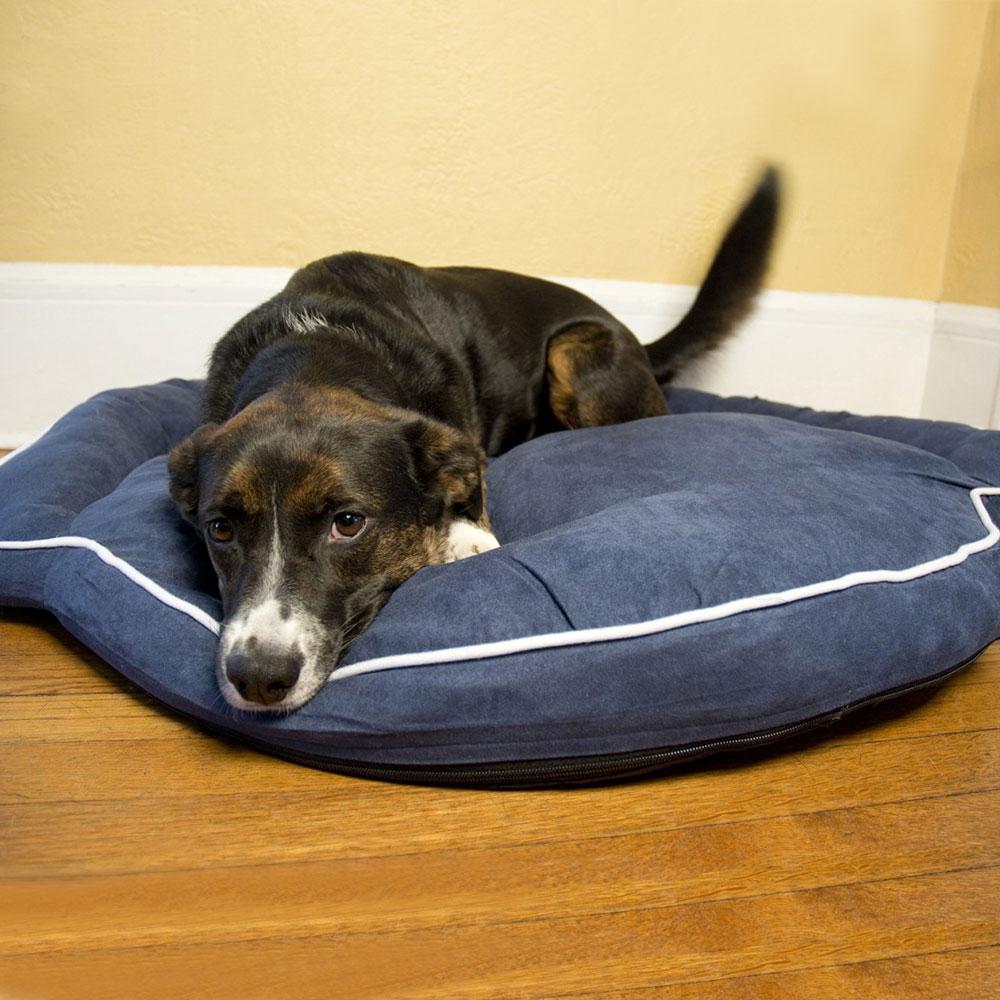 Bolster Dog Bed Denim In Pet Beds