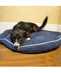 Bolster Dog Bed - Denim