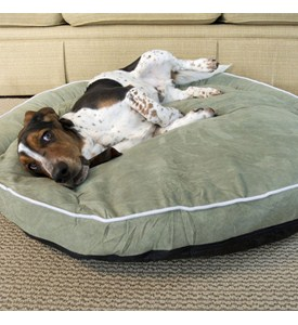 Bolster Dog Bed - Moss Image