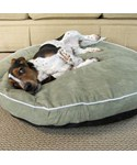 Bolster Dog Bed - Moss