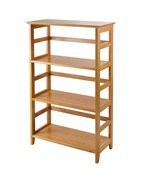 Wood Bookshelf - 4-Tier