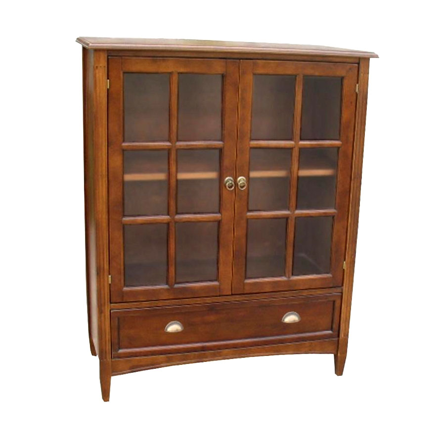 Bookcase With Glass Door By Wayborn In Bookcases