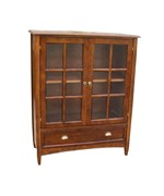 Bookcase with Glass Door by Wayborn