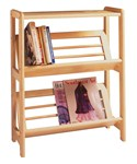 Two-Tier Slanted Shelf Bookcase