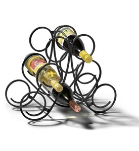 Wine Rack - Black Metal Image
