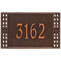 Boston Wall Address Plaque - One Line