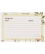 Botanical Treasures Recipe Card Refill Pack