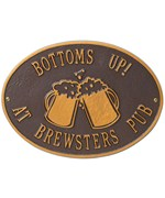 Hawthorne Personalized Beer Mugs Plaque