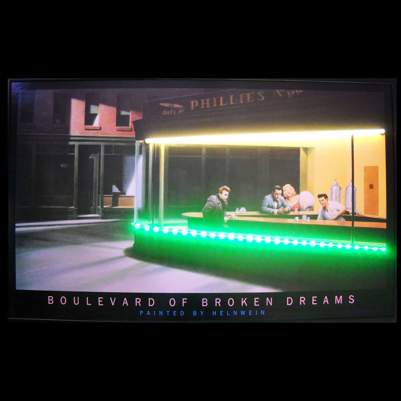 Boulevard Of Broken Dreams Neon Led Lighted Poster By