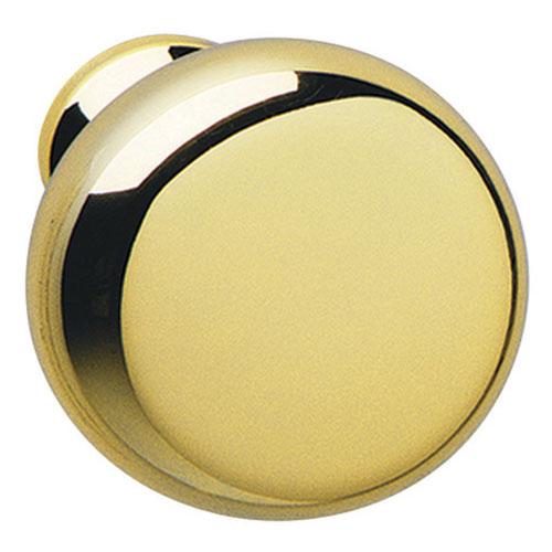 Round Cabinet Knob Polished Brass In Cabinet Hardware