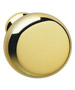 Round Cabinet Knob - Polished Brass