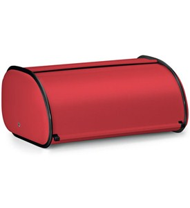 Countertop Red Steel Bread Box Image