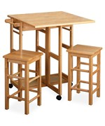Three Piece Square Breakfast Cart - Natural