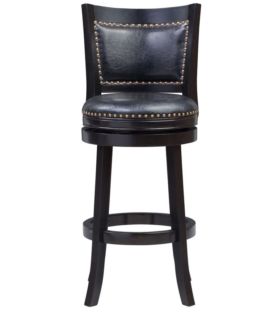 Bristol Swivel Bar Stool In Wood Bar Stools