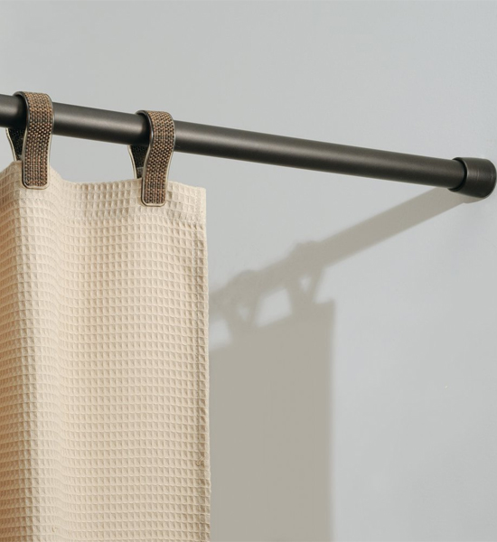Bronze Adjustable Closet Rod in Shower Rods