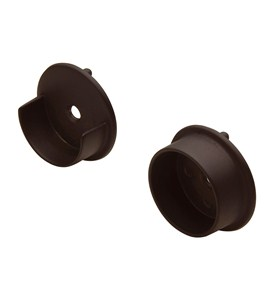 Round Closet Rod Flanges - Oil Rubbed Bronze (Set of 2) Image