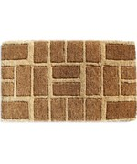 Brown Brick Welcome Mat
