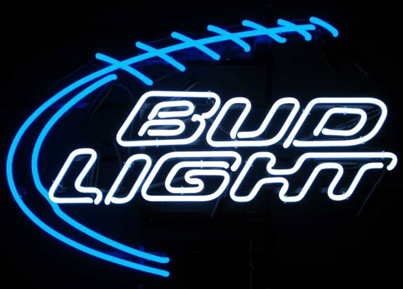 Bud Light Football Neon Sign by Neonetics in Neon Signs