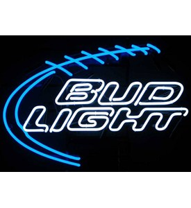 Bud Light Football Neon Sign by Neonetics Image