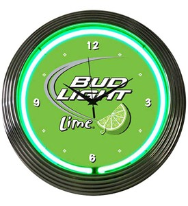 Bud Light Lime Neon Art Clock Image