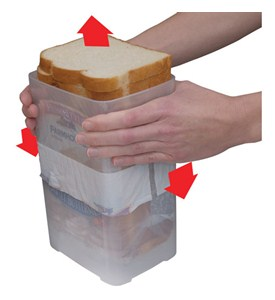 Buddeez Wide Bread Loaf Storage Dispenser Image