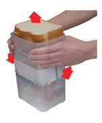 Buddeez Wide Bread Loaf Storage Dispenser