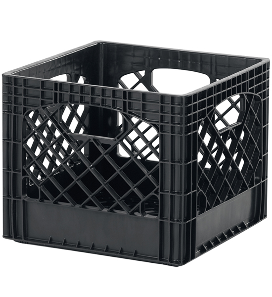 Buddeez milk crate storage bin black set of 2 in for What to do with milk crates