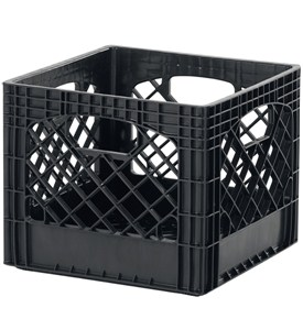 Buddeez Milk Crate Storage Bin - Black Image