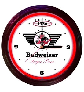 Budweiser 1936 Retro Neon Clock by Neonetics Image