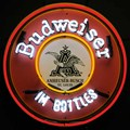 Budweiser in Bottles Neon Sign - Silkscreen Backing by Neonetics