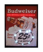 Budweiser Served Here 25 Cent LED Poster by Neonetics - 3BUD25