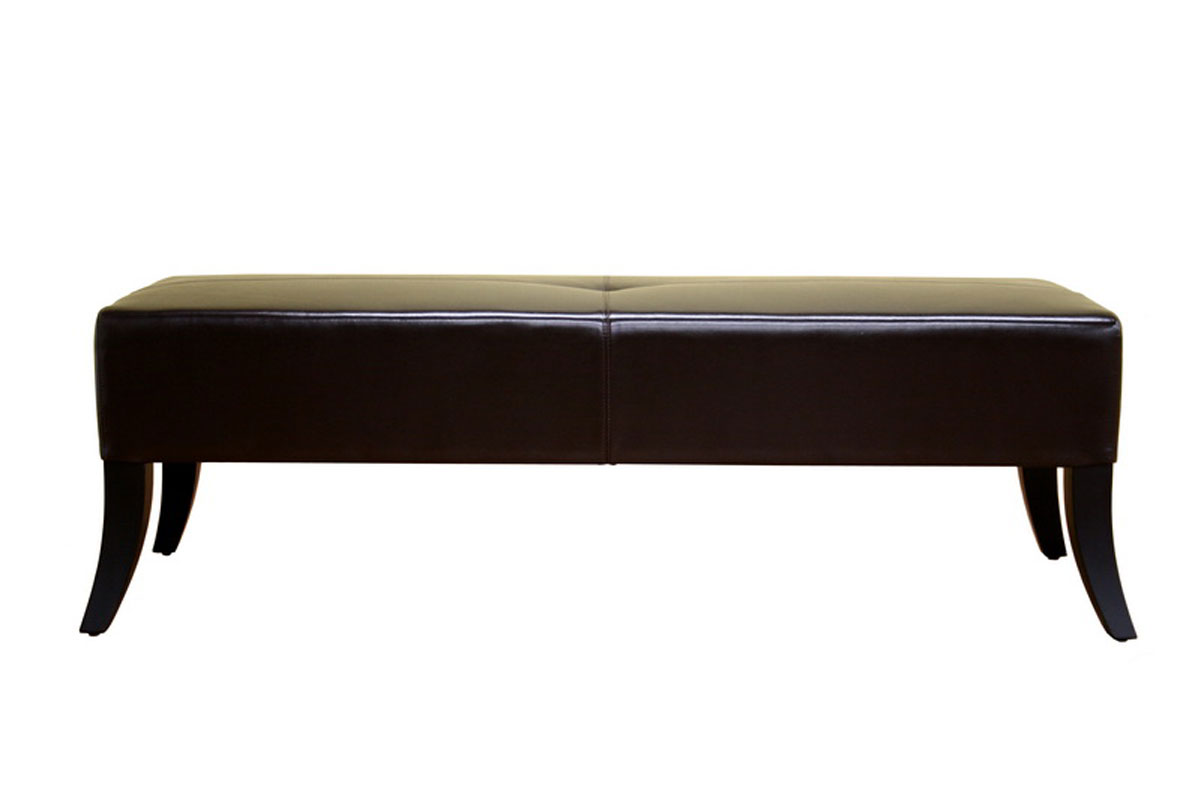 Bugatti Dark Brown Leather Bench By Wholesale Interiors Inc In Storage Benches