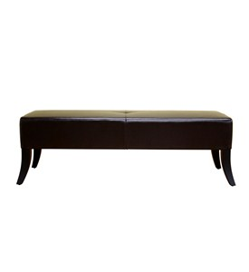 Bugatti Dark Brown Leather Bench By Wholesale Interiors Inc Image