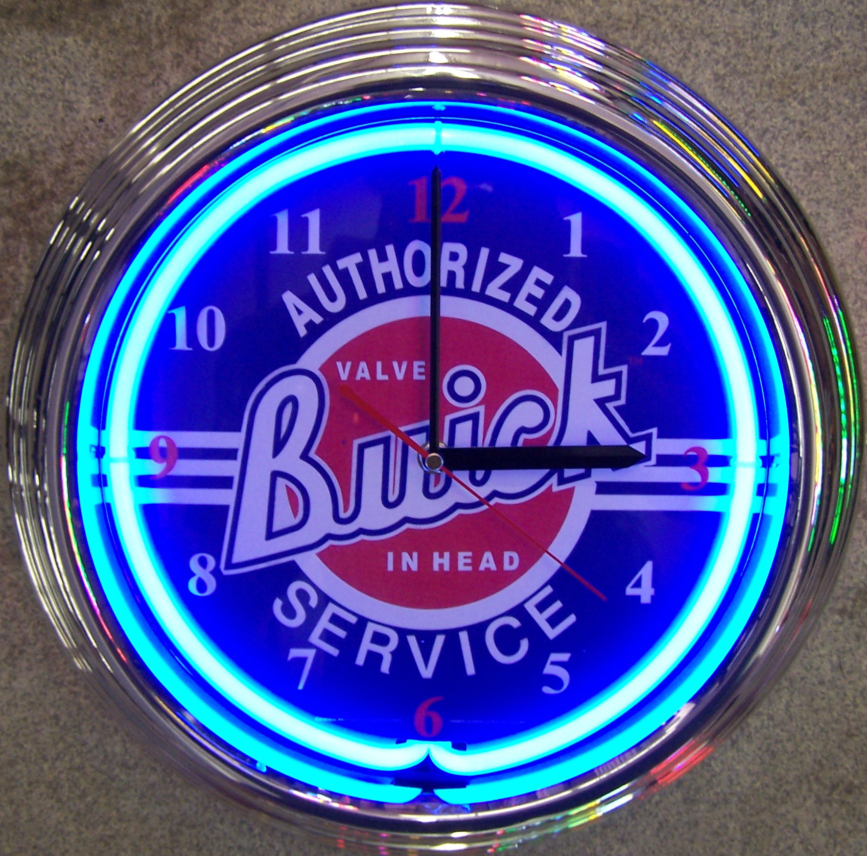 Buick Neon Clock by Neonetics in Wall Clocks