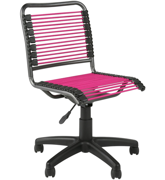 home office office seating armless office chairs bungee low back chair