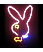 Bunny Head Neon Sculpture - by Neonetics - 4BUNNYH