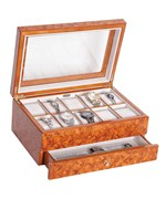 Burlwood Watch Storage Box