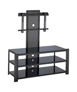 Burly Flat Panel TV Mount and Stand - Black