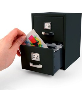 Business Card File Cabinet Image