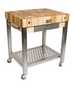 Butcher Block Cart with Drawer
