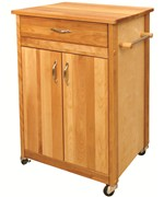 Butcher Block Cart with Flat Doors by Catskill Craftsmen