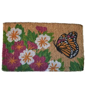 Butterfly Garden Coir Welcome Mat by Imports Decor Image